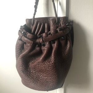 Alexander Wang Diego Bucket Bag in Raisin matte BK